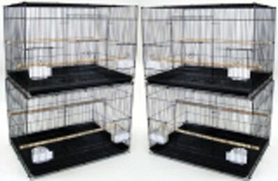 New Lot of 4 Large Aviary Breeding Bird Cages 30x18x18- 2473 Black-089