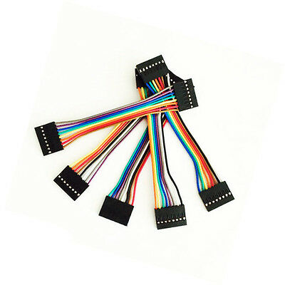 10pcs 10cm 8Pin 2.54mm Dupont Female to Female Cable Jumper Wire For Arduino