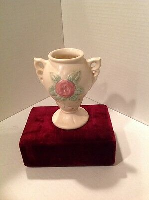 Hull Pottery Vase 5 Inches High Open Rose