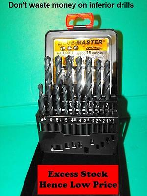 HSS Twist Drill set DIN338 1.0-10.0x0.5mm in metal case TOP QUALITY Drills