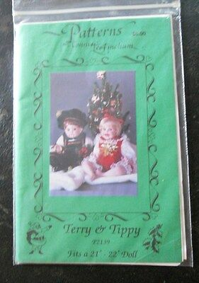 """Boy/Girl Collectible Doll Clothes Pattern Terry & Tippy 21""""-22"""""""