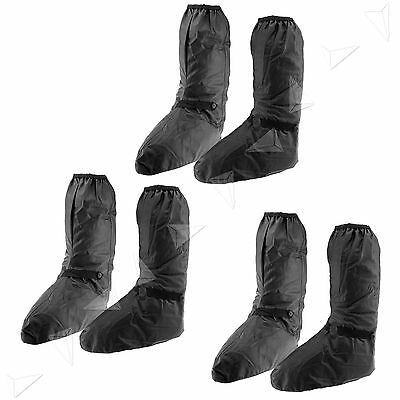 Black L/XL/XXL Waterproof Overboot Motorcycle Shoe Cover Protect Motorbike Bike
