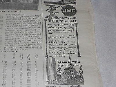1911 UMC SHOT GUN SHELL ADVERTISING JANUARY 5 1911 AND OTHER ADDS