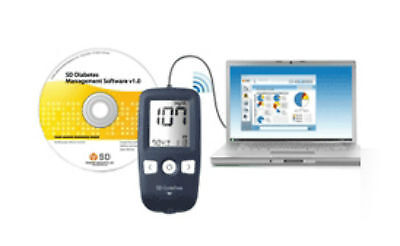 SD Codefree Management Data Cable & Software for use with SD Blood Glucose meter