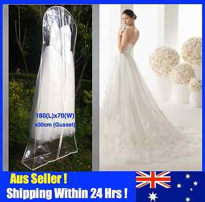 Extra Large Wedding Dress Bridal Gown Garment Cover Storage Bag - Clear Plastic