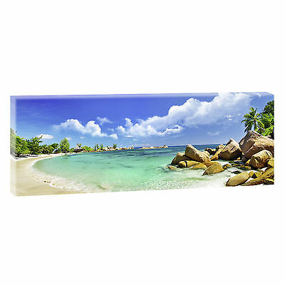 seychellen bilder leinwand keilrahmen meer strand poster xxl 120 cm 40 cm 207 eur 22 70. Black Bedroom Furniture Sets. Home Design Ideas