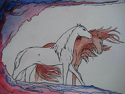 "FREE POST horse art ""Everything I Do Means Nothing At All Without You "" A5"