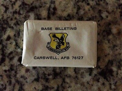 Carswell Air Force Base Hotel Travel soap bar 7th Bomb Wing Cold War billeting