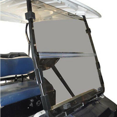 RecPro™ Club Car DS golf cart Clear Windshield with Folding Acrylic '82-'00.5