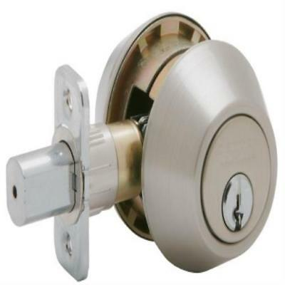 New Dexter By Schlage Jd62v630 Double-Cylinder Deadbolt Satin Stainless Gift