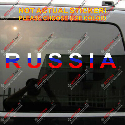 Russia Russian Flag Map Car Trunk Decal Sticker Various size/&color