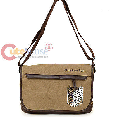 Attack on Titan Messenger Bag Scouting Legion Canvas Anime Shoulder Cross Bag