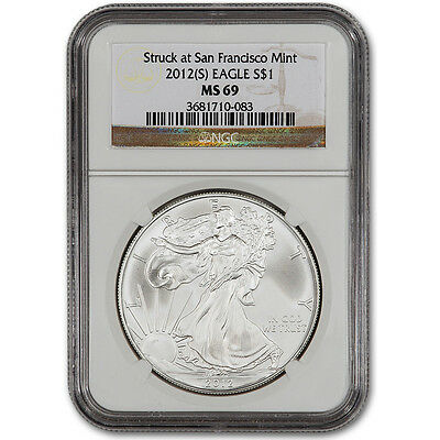 2012-(S) American Silver Eagle - NGC MS69