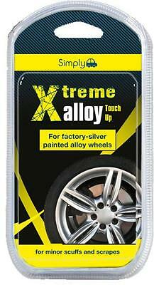 Car Silver Alloy Wheel Touch Up Repair Kit Minor Scuff Scrape Kerb Damage