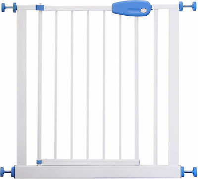 Adjustable safety Gate 73 - 143 cm MEGANE white/blue stair baby kids door gate