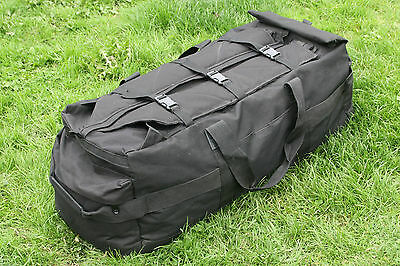 British Army Black Deployment black bag / holdall 90 litres use as backpack