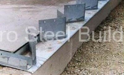 Duro Steel Arch Building 100' Metal Pre Welded Industrial Base Connector Plate