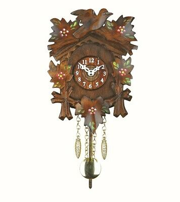 Kuckulino Black Forest Clock with quartz movement and cuckoo ch.. TU 2016 PQ NEW