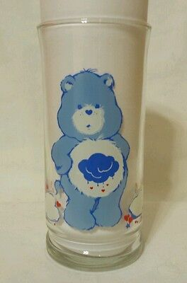 Vintage Care Bears Pizza Hut Grumpy Bear 1983 Glass - Mint Condition