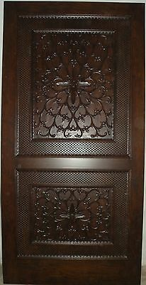 Rosewood hand carved single entry door