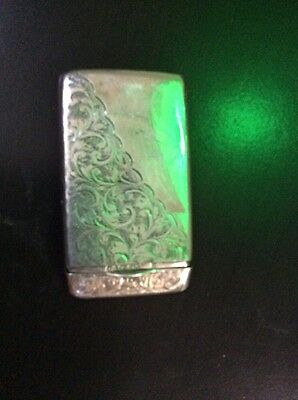 AUTHENTIC ANTIQUE SOLID STERLING SILVER VICTORIAN HALLMARKED ENGRAVED CARD CASE
