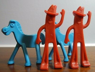 Vintage Lot of 4 Gumby and Pokey Happy Trails Game 2 of Each 1968
