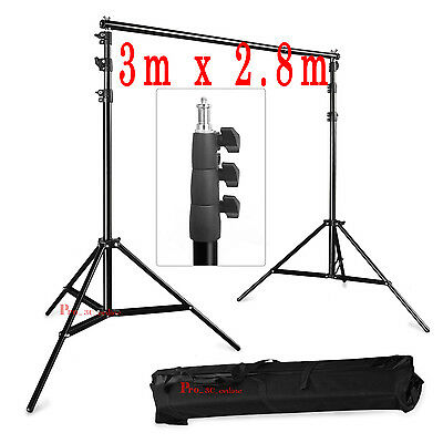 3m x 2.8m Photo Background Backdrop Support Stand Kit for Studio Lighting Shoot
