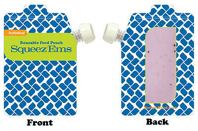 Booginhead Zip Top Squeez'Ems Kids Reusable Refillable Homemade Food Pouch 6oz