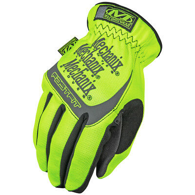 Mechanix Wear Safety Hi-Vizibility Fastfit Work Mens Gloves Reflective Yellow