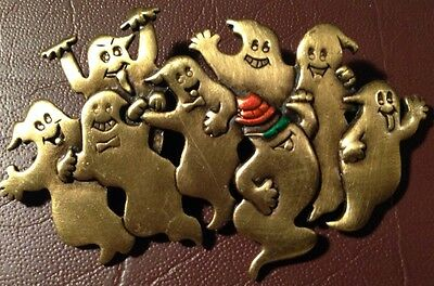 GROUP OF DANCING GHOST HALLOWEEN PIN SIGNED JJ