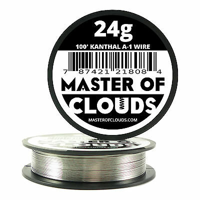 100 ft - 24 Gauge AWG A1 Kanthal Round Wire 0.51mm Resistance A-1 24g GA 100'