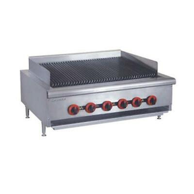 Gas Char Grill 6 Burner, Chargrill Cooktop Commercial Restaurant Equipment NEW