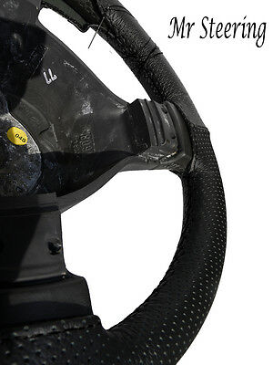 Black Perforated Leather Steering Wheel Cover For Land Rover Discovery 4 2010-13