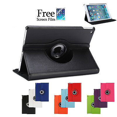 Smart Cover Case 360 Rotating Stand for Apple iPad Air 2 1