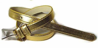 "Wn251 - .5"" Wide Patent Gold Leather Fashion Belt For Girls, Free Usa Shipping"