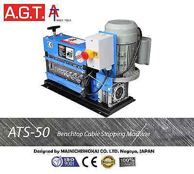 ATS-50 Benchtop Scrap Cable Wire Stripper/Stripping Machine, Copper Recycling