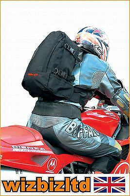 Bike-It Heavy Duty Motorcycle Nylon 7 Litre Rucksack with Torso Strap LUGRSBLK