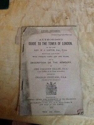 Authorised Guide To The Tower Of London Description of the Armoury, 1918