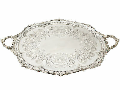 Antique, Sterling Silver Tea Tray by Martin, Hall & Co, Victorian