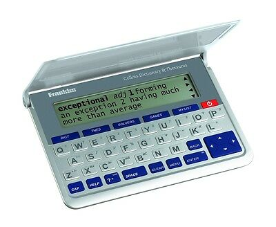 Electronic Collins English Dictionary Thesaurus Calculator Franklin DMQ570 New