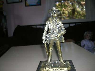 ''LAW AND ORDER'' sculpture (pewter)