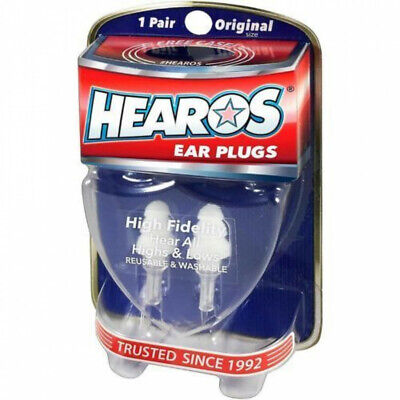 HEAROS - Hifidelity Ear Plugs / Filters *NEW* Noise Reduction Reusable