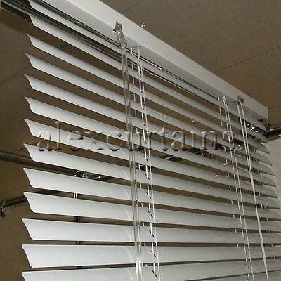Aluminium Venetian Blinds, Size: 90x210cm, 25mm Slat, Colour: White