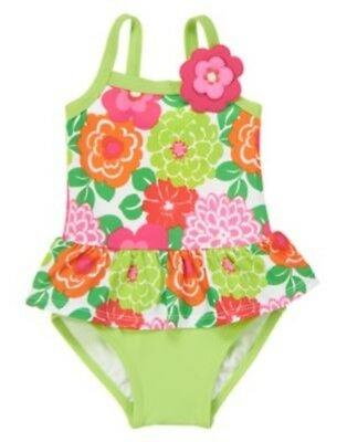 Gymboree Tropi-Cutie Floral Skirted 1-Pc Swimsuit 6 12 18 24 2T 3T 4T 5T Nwt