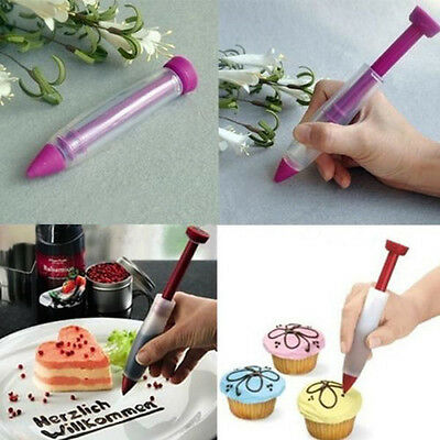 Silicone Plate Writing Pen Cake Cookie Pastry Cream Chocolate Decorating Syringe