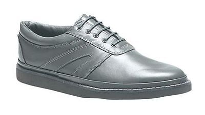 Mens Unisex Grey Leather Indoor Outdoor Bowls Size 3-12 Bowling Green Lace Shoes