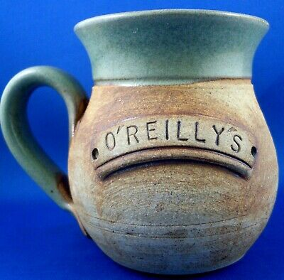 """The Green Frog Pottery Australia """"O'Reilly's"""" STAMPED POTTERY Mug VG - In Aust"""