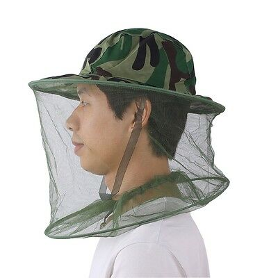 Mesh Jungle Camouflage Field Face Mask Cap Mosquito Bee Bug Insect Fishing Hat