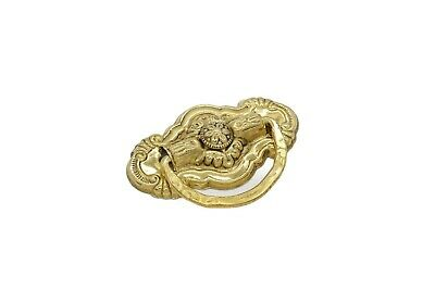 Victorian Drawer Pull, Ring Pull Vintage, Sold In Pairs Single Post  Solid Brass