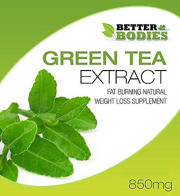 Green Tea 850mg Capsules High Strength Diet Pills Weight Loss Detox Colon